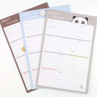 All 18pc (Big) WeBareBears Schedule NotePad