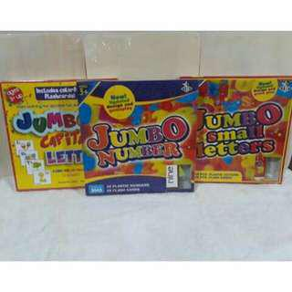 Hot Sale Jumbo Letters and Numbers with Flash Cards (Limited stock only)