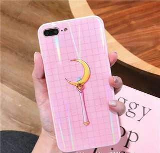 Iphone 7plus 8plus sailormoon glass case