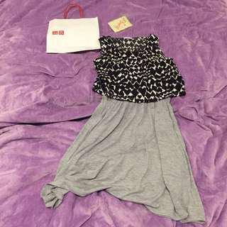 UNIQLO Midi Dress grey