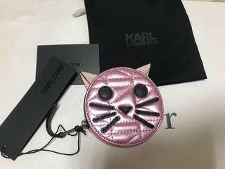 Karl Lagerfeld卡爾老佛爺可愛喵咪錢包#全新吊牌在#原廠防塵套