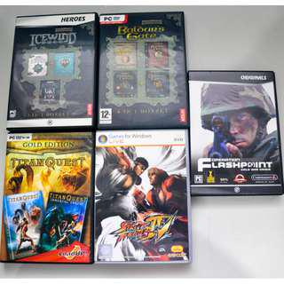 Used PC games for collectors