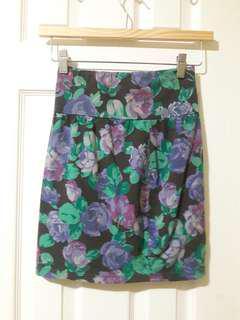 Aritzia Talula Flower Skirt