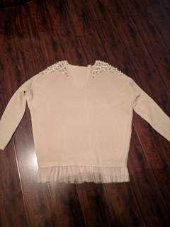 Brand new sweater with beads
