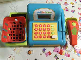 Just Like Home Cash Register Educational Toys