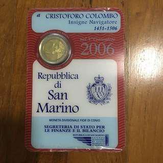 San Marino 2 euro 2006 commemorative bimetallic coin