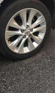 Reduce Price - Alphard Vellfire Sport Rim with Tyre