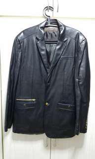 Black men leather blazer/jacket
