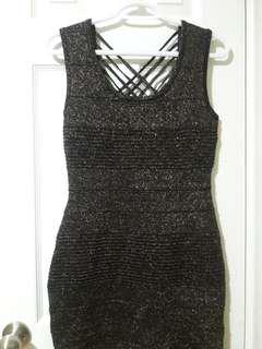 Sirens Black and Gold Dress