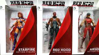 DC COLLECTIBLES RED HOOD & THE OUTLAWS SET RED HOOD, STARFIRE & ARSENAL