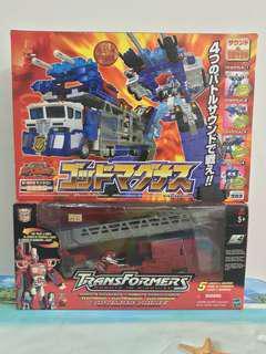 Transformers RID Optimus Prime and C-023 Takara God Magnus