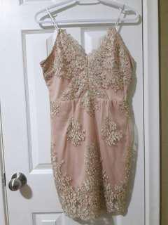 Stelly Blush and Gold Dress