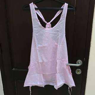 #MauiPhoneX Dress rangkap tanpa lengan