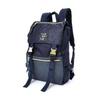 Almost NEW Anello Gold Buckle Backpack in Navy