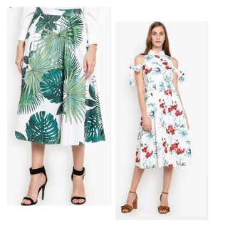 Plains and Prints Dress and Skirt