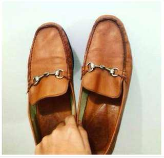 Imported Brown Leather Shoes- Size 10