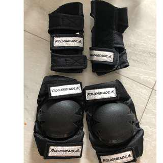 Rollerblade Protection for Knee and Wrist
