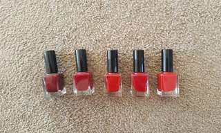 Nail Polish Set, Red in Different Shade