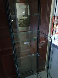 👍Self pick up - IKEA Glass display cabinet 4 layers