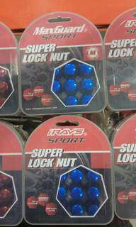 Rays Tyre Lock Nut Set Blue Color