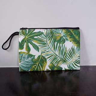 REPRICED! Plant Printed Pouch