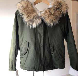 Green Crop Jacket