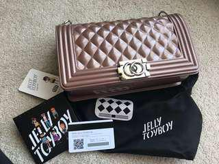 Rose Gold Jelly ToyBoy Authentic Cross Body