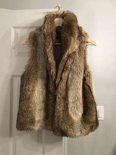 Faux fur vest forever 21