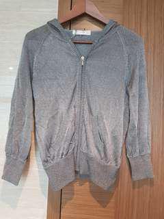Zara grey jacket with hood