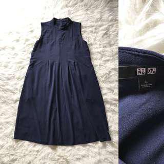 UNIQLO Navy Midi Dress