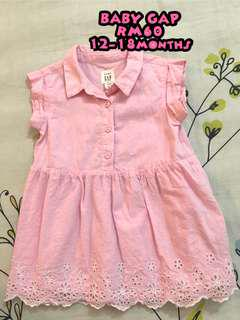 authentic GAP baby eyelet shirt dress mothercare next uk carters old navy george