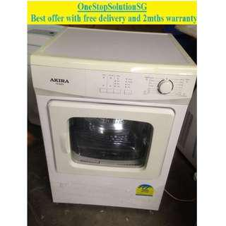 Akira (6.0kg), Air Vent Dryer ($180 + free delivery and 2mth warranty)