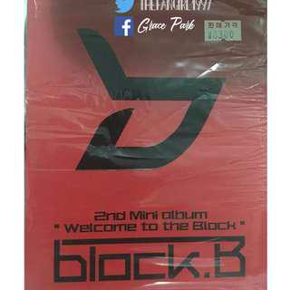 BLOCK B 2ND MINI ALBUM WELCOME TO THE BLOCK