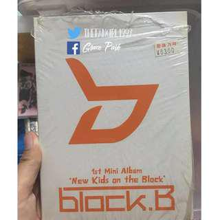 BLOCK B 1ST MINI ALBUM NEW KIDS ON THE BLOCK