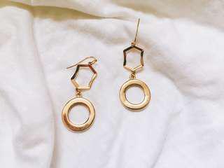 🚚 歐美簡約幾何耳環