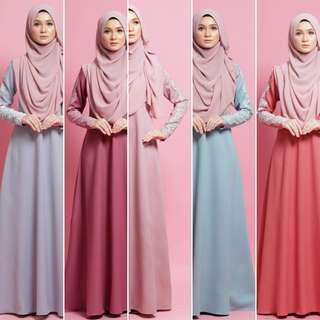 🚚 ALRANDECY GLITTER DRESS jubah juba alraandecy jubbah jubba abaya abayah bridesmaids baju instant