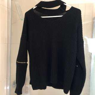Black Collar Sweater