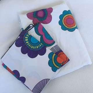 Queen size doona cover and pillowcases