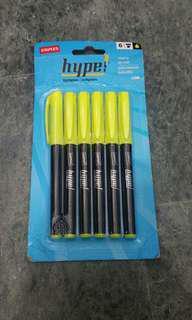 全新 螢光筆 6/支 hype