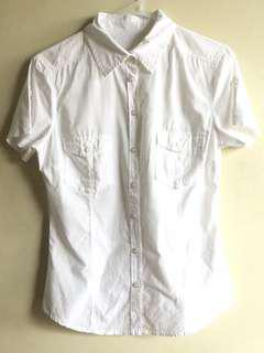 H&M white button down too