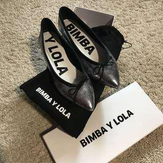 Bimba Y Lola Plato Oscura Dark silver Sz 39