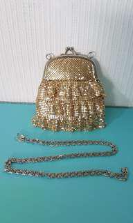 Gold evening purse