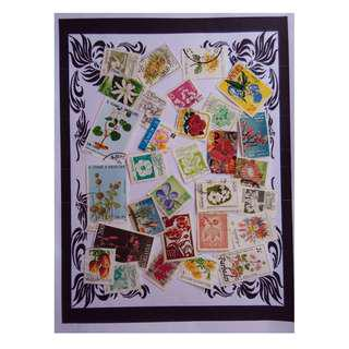 Themed stamps Flowers 30 pcs BM20
