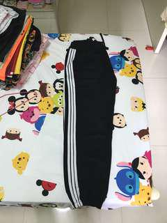 Adidas inspired sweatpants - size S with elastic waist