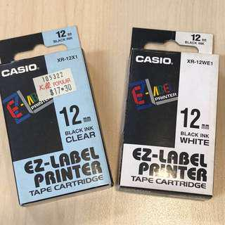 Casio EZ labelling tapes (New/Used)