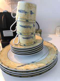 Porcelain Dishes Set plates and tea coffee cups