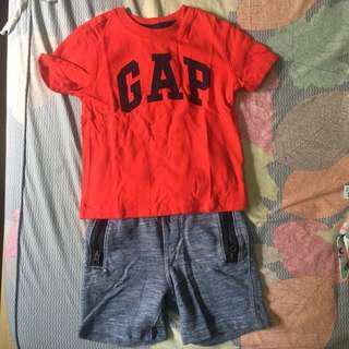 Gap t shirt and short set