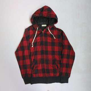 Back number zip hoodie