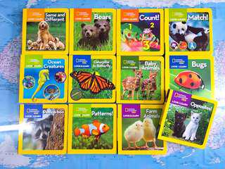 NEW~ National Geographic Kids Look&Learn 12 board Book Set , Animal theme English book