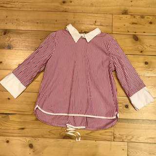 Formal stripe blouse